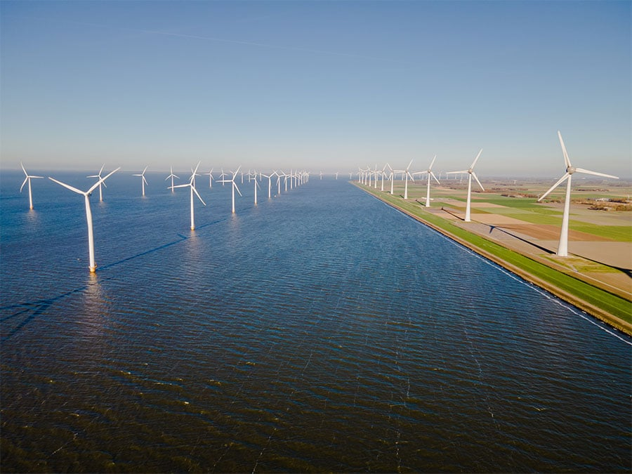 GreenWatt | Wind turbines park at sea